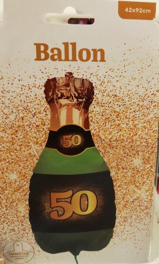Folie ballon champagne fles 50 jaar
