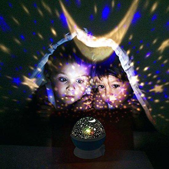 Sterrenhemel Verlichting Kinderkamer - Moon Light Projector - Nachtlampje kind | baby - Nachtlamp - Snoezellamp - Spacelamp - Cadeau kind + Bijbehorende oplaadkabel! (WIT)