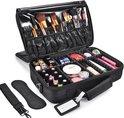 Cosmetica Koffer - Make-up Koffer met verstelbare vakken - Visagie en Nagelstyliste Beauty Koffer - 35x25x11CM