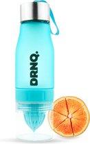 DRNQ. Drinkfles Fruitfilter waterfles met Sap Recepten - 650ml - Vaatwasser bestendig - Ocean Blue