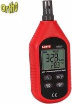 Ortho® UNI Luchtvochtigheidsmeter hygrometer humidity meter met temperatuurmeting