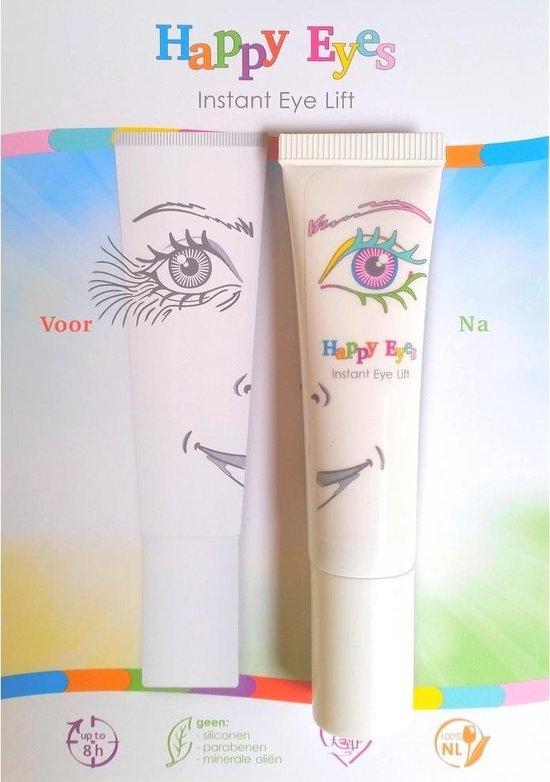 Happy Eyes instant eyelift - werkt na 2 minuten - natuurlijke ingredienten - anti-aging - anti-rimpel oogcreme - oogcontourcreme