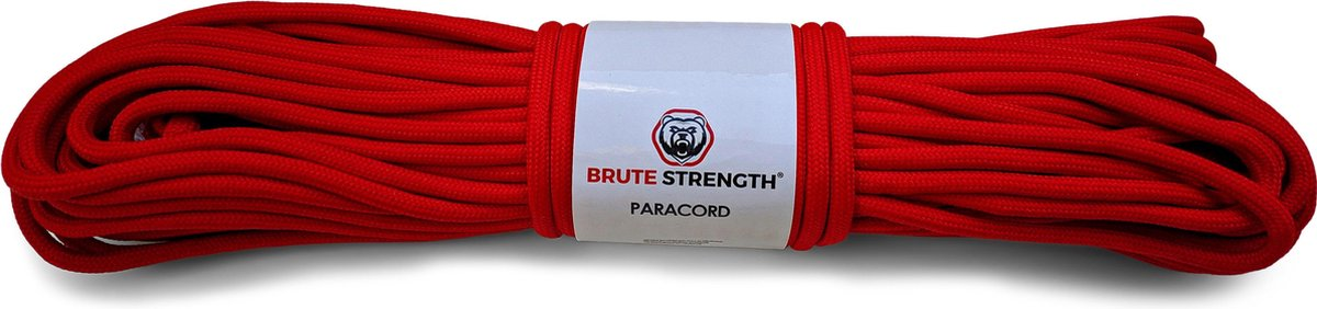 Paracord - Touw - 4 mm - 30 meter - Rood - 250 kg breekracht