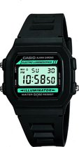 Casio Collection W86-1VQES - Horloge - Rubber - Zwart - Ø 38 mm