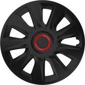 Wieldoppen Stratos RR zwart 13 inch 4-delig set