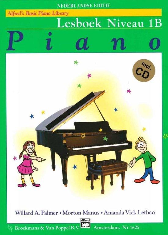 Boek cover Alfreds Basic Piano Library | Lesboek Niveau 1B + CD van Willard A. Palmer / Morton Manus (Paperback)