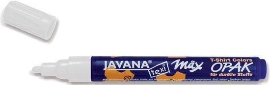 Afbeelding van Witte textiel stift - Javana Texi Max - 2-4 mm kogelpunt