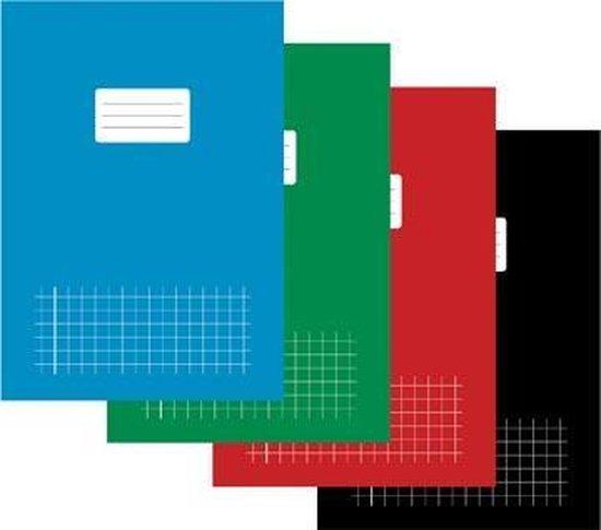Afbeelding van Schrift - A4 - Geruit 10mm met kantlijn - 40 vel - assorti pak 5 speelgoed