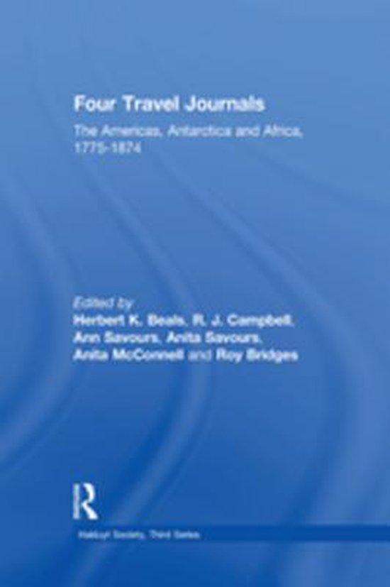Boek cover Four Travel Journals / The Americas, Antarctica and Africa / 1775-1874 van  (Onbekend)