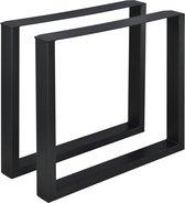 Stalen onderstel U tafelpoot set van 2 staal 80x72 cm zwart