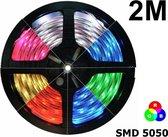 2 Meter - IP20 RGB LED Strip SMD5050 60led p/m (geen adapter en remote/controller inbegrepen)