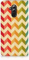 Huawei Mate 20 Lite Uniek Standcase Hoesje Zigzag Color