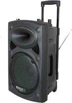 Ibiza Sound PORT15VHF-BT 800W Draagbaar PA systeem met USB-MP3, REC, VOX,Bluetooth - Zwart