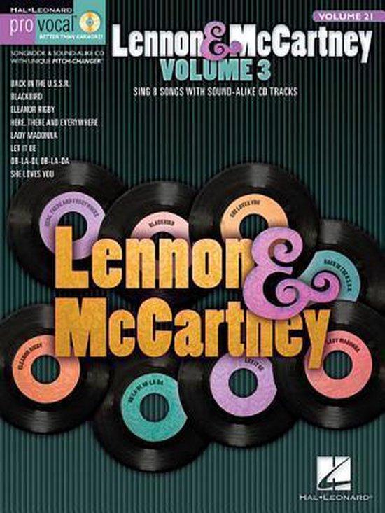Lennon & Mccartney Volume 3 Pro Vocal