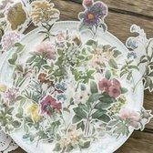 120 vellum stickers - Bloemen, Planten en Paddenstoelen sticker