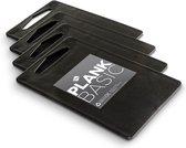 Inno Cuisinno Snijplank BASIC - set a 4 stuks - 25x15cm - zwart