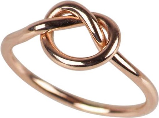 Fate Jewellery Ring FJ164 - Love Knot - 925 Zilver, rosé verguld - 16mm