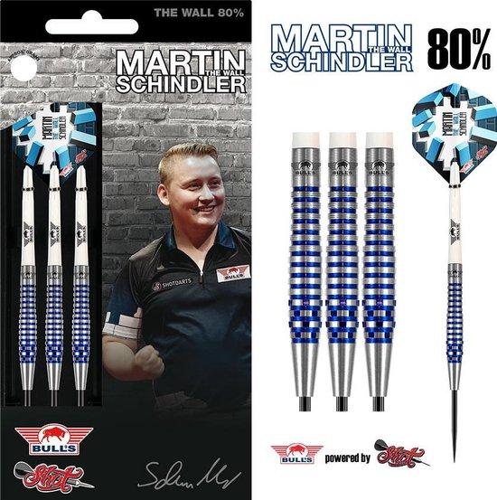 Bull's Steeltip Martin Schindler The Wall 80% PCT Blue 24 gram