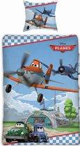 Disney Planes kinderdekbedovertrek - eenpersoons - 140x200 - Blauw - PL033