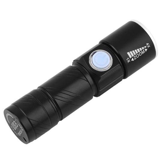 Felle Mini Pocket Cree Q5 Flash Camping USB LED Zaklamp - 450 Lumen - Zwart