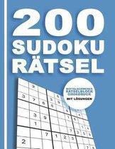 200 Sudoku R tsel - Mittelschwerer R tselblock Gro druck mit L sungen