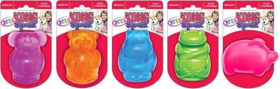 Kong Squeezz Jels - Piepend Speelgoed - Multi
