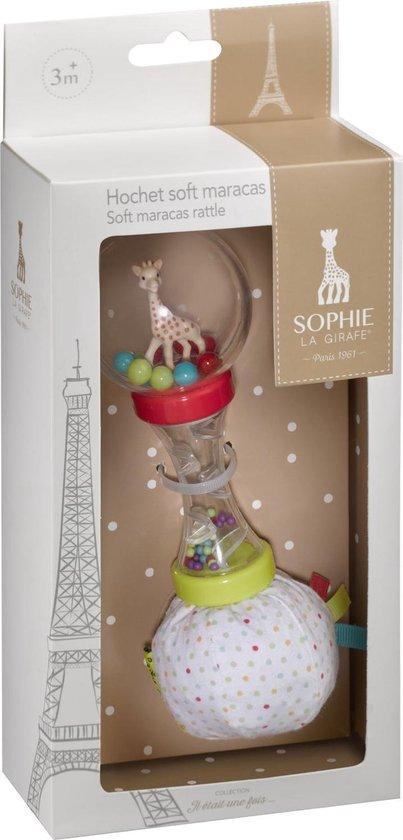 Sophie de giraf zachte maracas rammelaar in witte geschenkdoos
