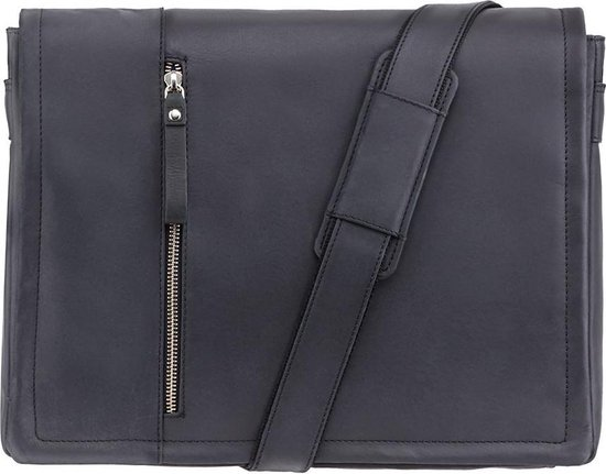 Visconti Hunter leather Foster L Messenger bag - 16072bk