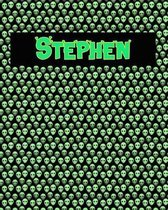 120 Page Handwriting Practice Book with Green Alien Cover Stephen