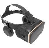 DrPhone VRZ5 - IMAX 3D Virtual Reality Bril - Ingebouwde Surround Sound VR Hoofdtelefoon Koptelefoon- IOS/Android - Best Geteste Luxe Versie - Eclipse Zwart