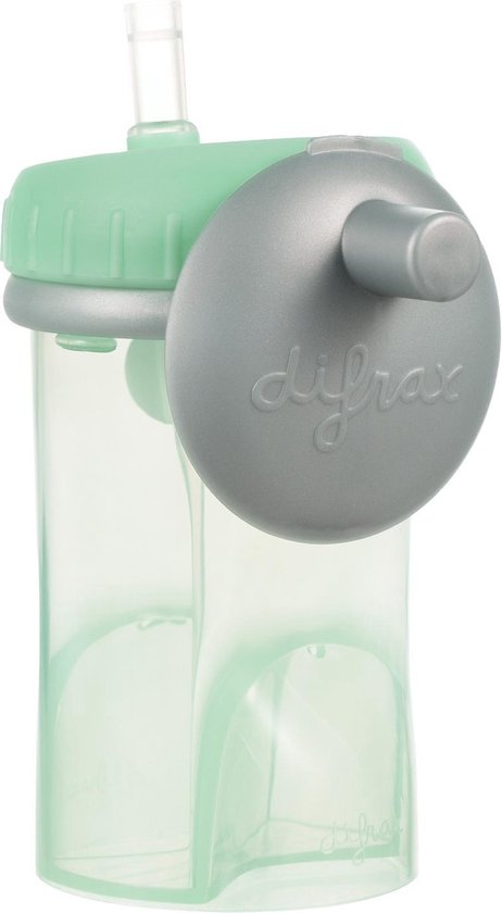 Difrax Rietjesbeker antilek - 250 ml - Mint