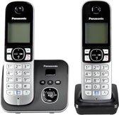 Panasonic KX-TG6822GB - Duo DECT telefoon - Antwoordapparaat - Zwart/Zilver