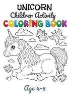 Unicorn Children Activity Coloring Book Age 4-8