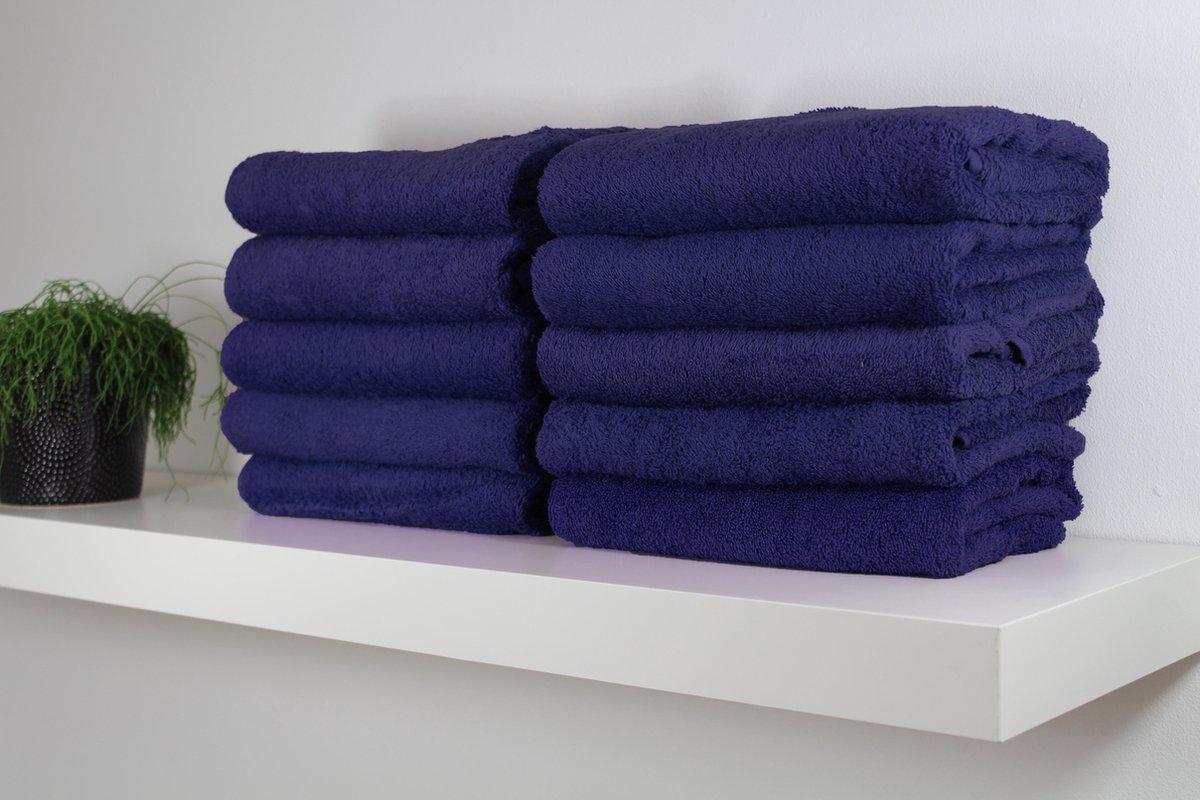Katoenen Handdoek – Donkerblauw - Set van 6 Stuks - 50x100 cm - Heerlijk zachte badhanddoeken - Merkloos