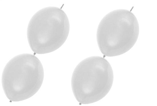 12x Doorknoop ballon wit - Huwelijk trouwen them feest gala festival verjaardag