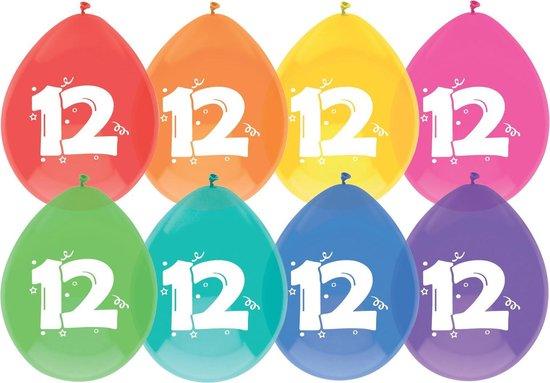 8x Ballonnen -12 jaar - assorti kleuren