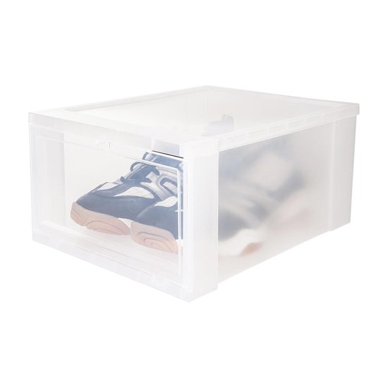IRIS Schoenenbox Opbergbox - Kunststof - 3 stuks - Transparant