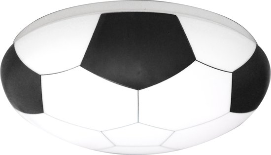 Plafonniere VOETBAL - rond 24cm - LED integrated - 12W 840 lumen - incl landen stickers FR-BE-DU-BR