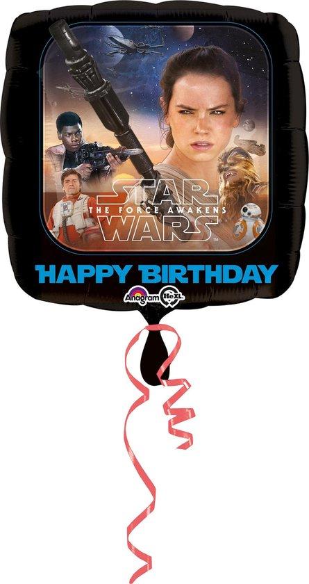 AMSCAN - Happy Birthday ballon Star Wars VII - Decoratie > Ballonnen