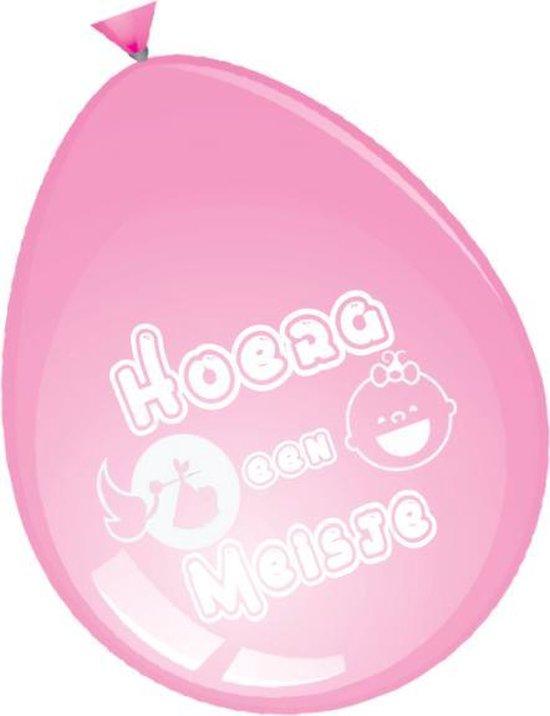 ballonnen - geboorte - hoera een meisje - 8 stuks