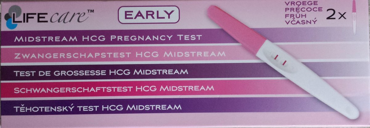 LifeCare Early - Vroege Zwangerschapstest - 2 stuks