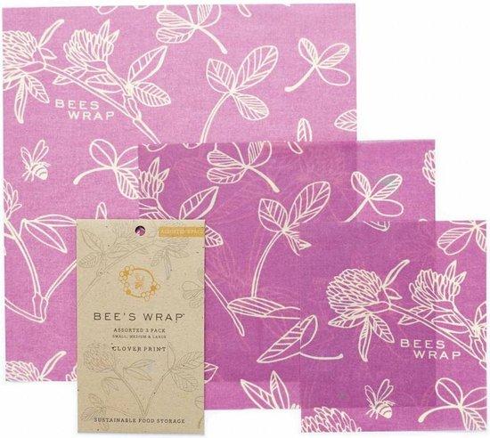 Bee's Wrap Mimi's Purple Set van 3 (S/M/L)