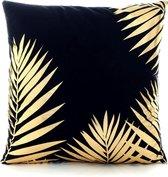 Golden Palm Kussenhoes | Katoen/Flanel | 45 x 45 cm