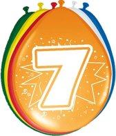 8x stuks Ballonnen versiering 7 jaar
