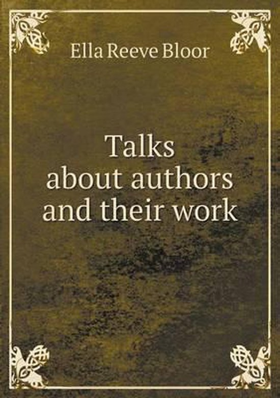 Talks about Authors and Their Work