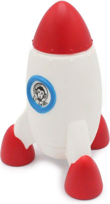 Raket Kinderlamp LED Multikleur licht met Timerfunctie Kids- Rood Wit