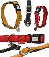 Beeztees - Hondenhalsband - MacLeather - Zwart - M - 35-50 cm