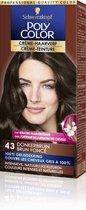 Schwarzkopf Poly Color Crème-Haarverf 43 Donkerbruin haarverf - 1 stuk