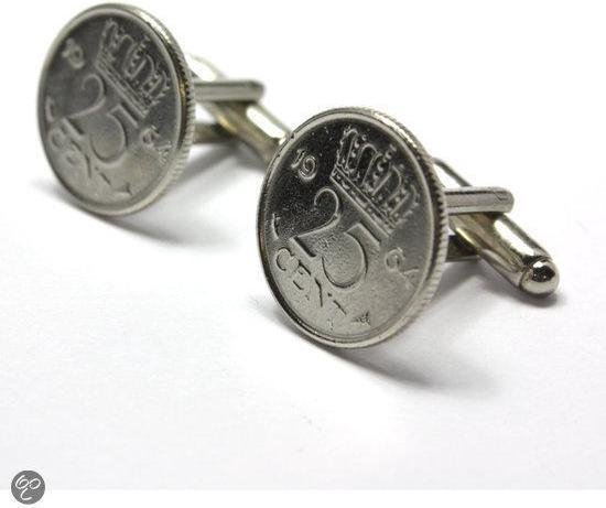 Custom Cufflinks Manchetknopen - Munt - 25 cent 1964