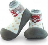 Attipas ZOO bruin babyschoenen, ergonomische Baby slippers, slofjes maat 20, 6-12 maanden